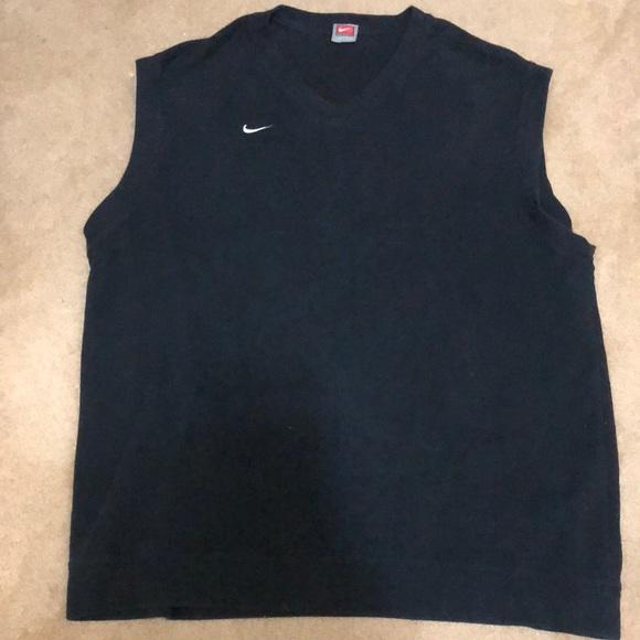 Men's Nike Team black golf sweater vest size XL